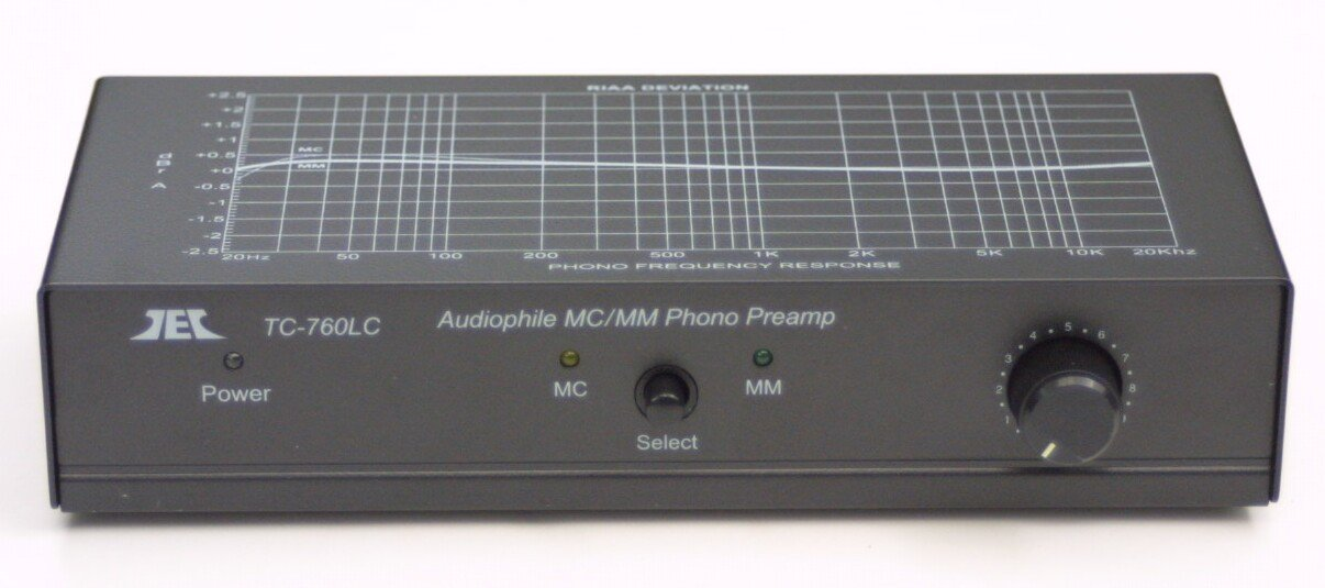 TCC TC-760LC BLACK Moving Magnet / Moving Coil Phono Preamp w/Level Control