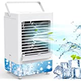 Personal Air Cooler, Portable Air Conditioner Fan with 1/2/4/8H Timer, 5000mAh Rechargeable Battery Operated 3 Wind Speeds &