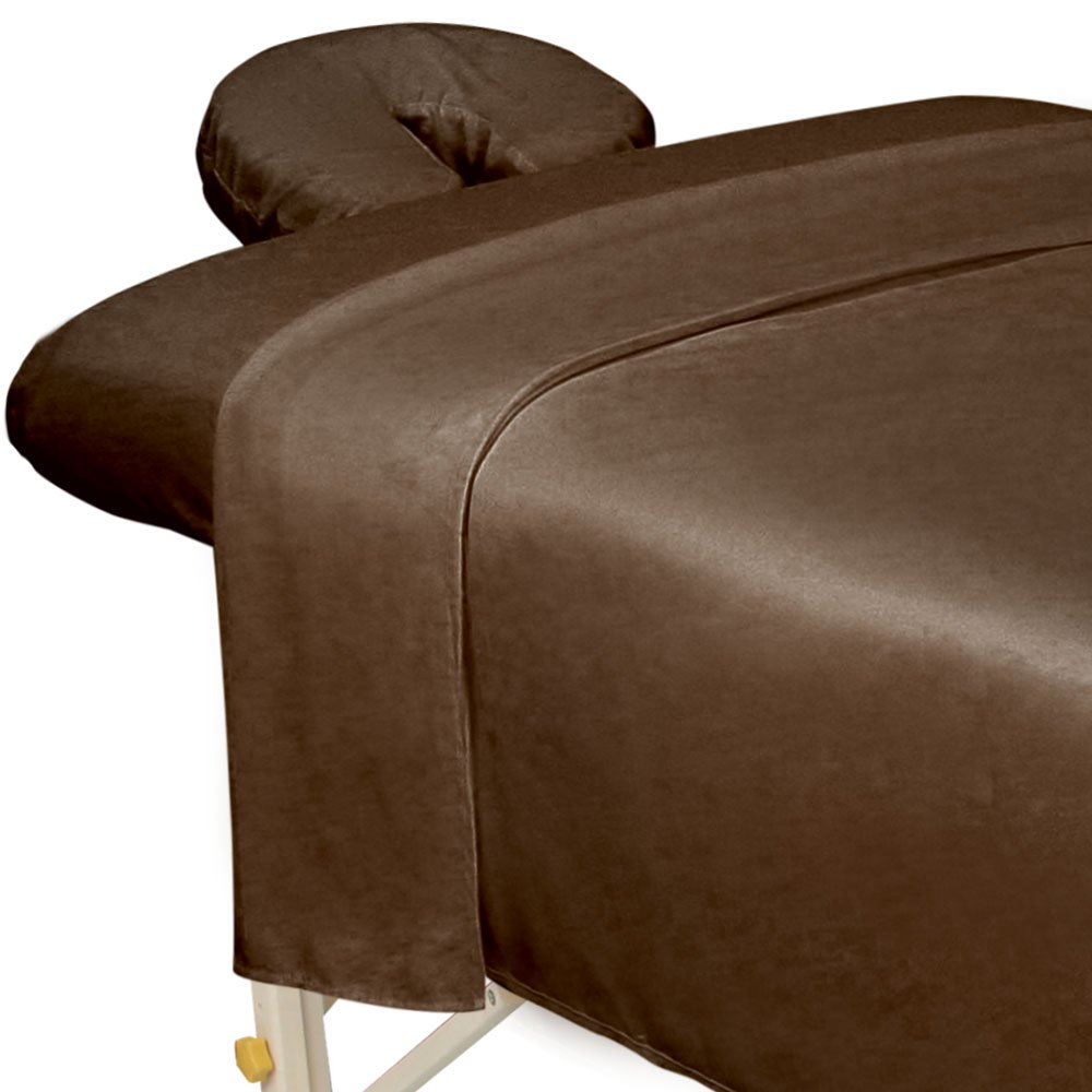 Premium Microfiber 3-Piece Massage Sheet Set Chocolate