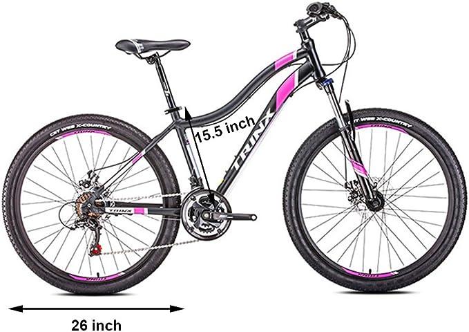 Bicicleta de Montaña para Mujer, 21 Velocidades Doble Freno Disco Hard Tail Bicicleta, Bicicleta BTT de Montaña para Niña,24 Inches White: Amazon.es: Hogar