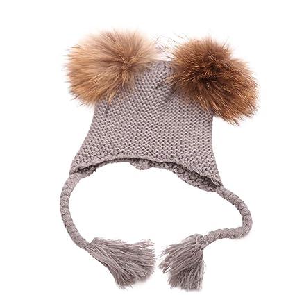 46f8f4572a2 Amazon.com  Sttech1 Children Kids Winter Warm Knitted Wool Hat Twist ...