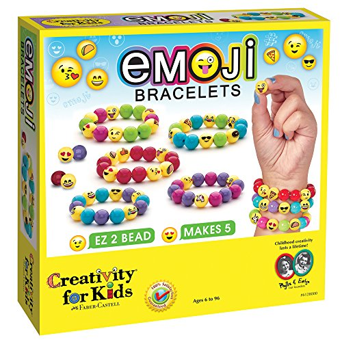 Creativity for Kids Emoji Bead Bracelet Craft Kit - Makes 5 Emoji Bracelets