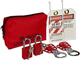 Brady Personal Lockout Pouch Kit, Includes 2 Safety Padlocks