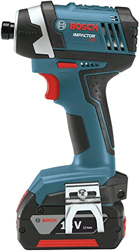 Bosch IDS181-02-RT 18V Compact Tough 1 4 in. Hex Impact Driver with 2 HC SlimPack Batteries Renewed
