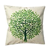"""Sunlightsell Colorful Tree of Life Cotton Linen Square Decorative Fashion Throw Pillow Cases18 """"X18 """"(A1)"""