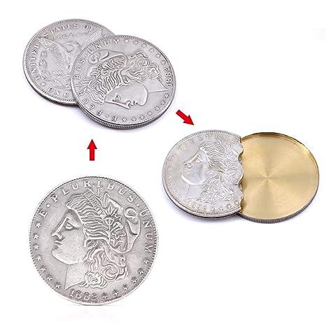 9e76c035dff8c Supper Copper Flipper Coin Butterfly Morgan Dollar Monete Accessori magici  Trucchi magici professionali Puntatori maghi Gimmick