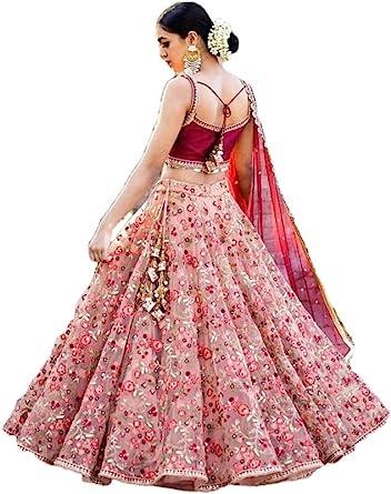 Pakistani Bollywood Indian Ethnic Bridal Party Pink Lengha Wedding Lehenga Choli