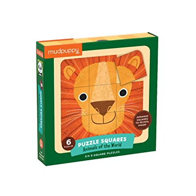 Mudpuppy Animals of The World Squares Puzzle (27 Piece): Mudpuppy, Kushnir, Hilli: Toys & Games