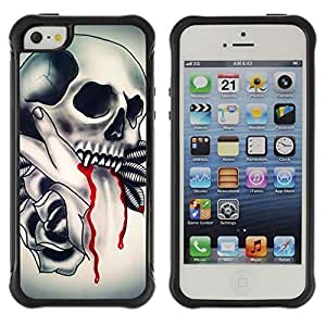 Be-Star Unique Pattern Anti-Skid Hybrid Impact Shockproof Case Cover For Apple iPhone 5C ( Vampire Tattoo Fang Blood Ink Biker ) Kimberly Kurzendoerfer
