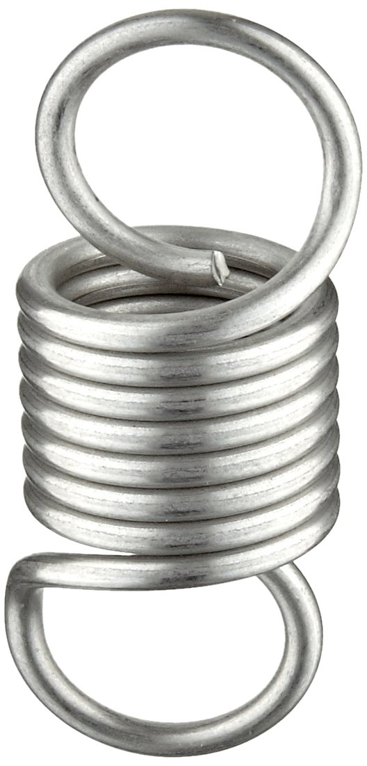 0.041 Wire Size 302 Stainless Steel 3 Free Length 0.36 OD Extension Spring 6.58 lbs Load Capacity Pack of 10 6.36 Extended Length Inch 1.83 lbs//in Spring Rate