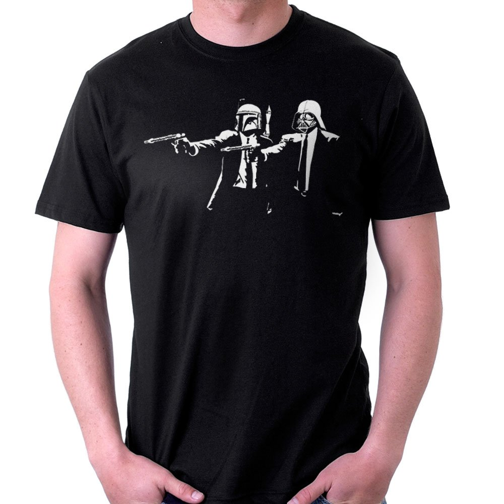 19c7928ff4 Banksy Star Wars Pulp Fiction Men's T-Shirt: Amazon.co.uk: Clothing