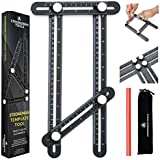 Strongman Tools | Heavy Duty Aluminum Alloy Angle Template Tool | Multi Function Universal Layout Measuring Ruler | 3…