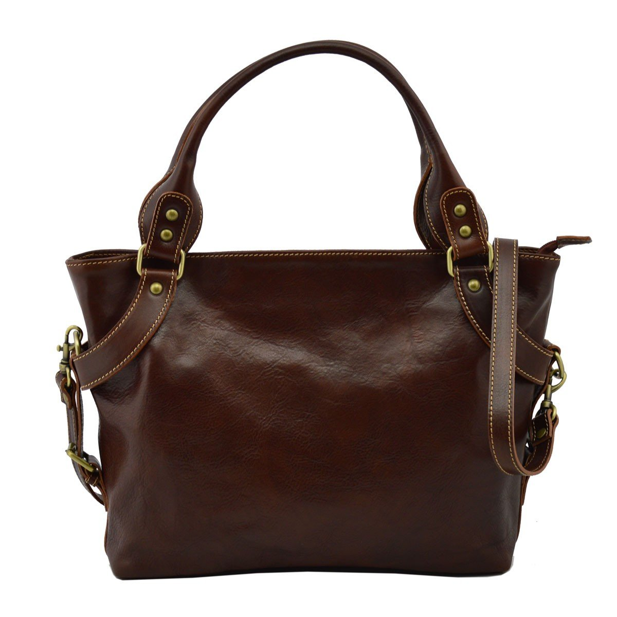 Dream Leather Bags Made in Italy Genuine Leather レディース US サイズ: 1 カラー: ブラウン   B074PTCKTK