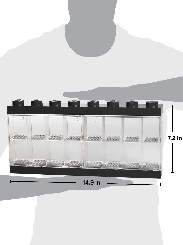 Large LEGO Minifigure Display Case 16 Black