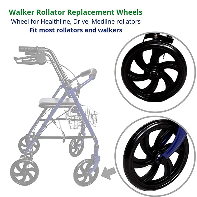 Amazon.com: Health Line Products Walker Rollator - Ruedas de ...