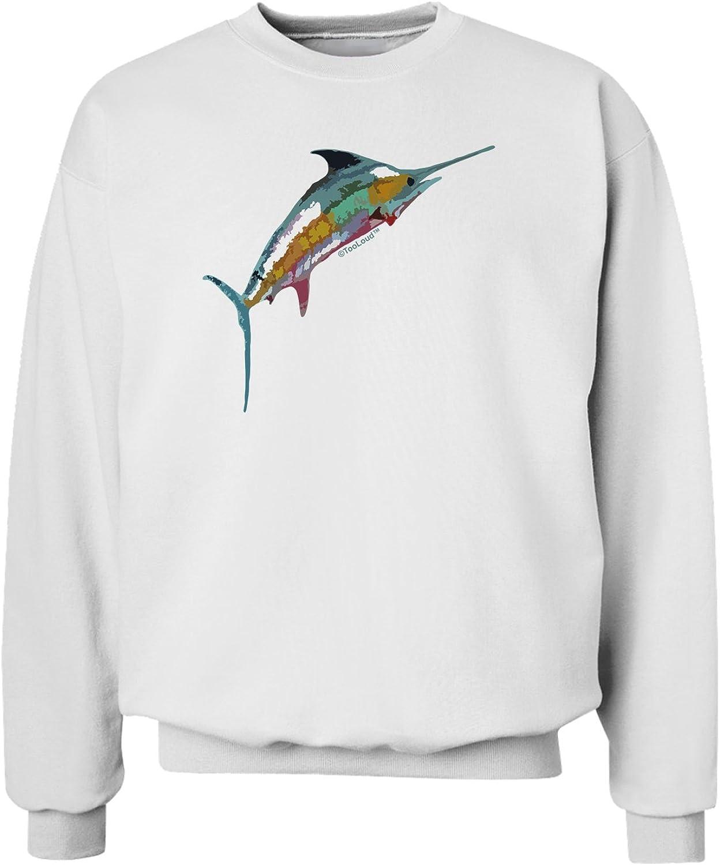 TooLoud Colorful Vector Swordfish Sweatshirt
