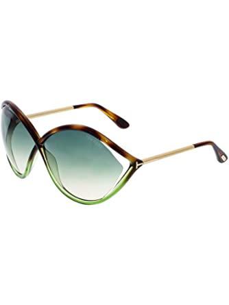 05b346acf4 Amazon.com  Tom Ford Women s Gradient Liora FT0528-56W-70 Brown Oval ...