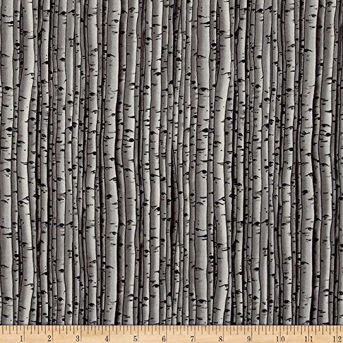 Blank Quilting Fabric (Snowscapes Birch Texture/ Knock On Wood Grey Fabric By The Yard)