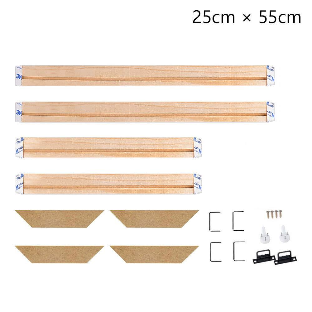 Stretcher Bars,Wood Canvas Frame Kit,DIY Canvas framm for Oil Painting,Art Stretcher Bars 25x60cm 10x24 Inch