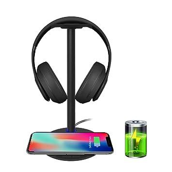 New Bee Cargador Inalámbrico 5W con Soporte Auriculares para iPhone XS MAX/XS/XR/X/ 8/8 Plus/, Samsung S9/ S9 Plus/ S8 / S8 Plus / S7 / S7 Edge / S6 / ...