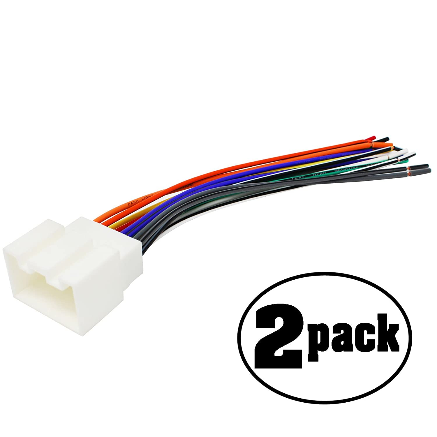 Amazon.com: 2-Pack Replacement Radio Wiring Harness for 2004 Ford F on ford generator wiring diagram, ford wiring color codes, ford truck wiring diagrams,