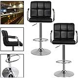 HG® tabouret/tabouret de bar tabouret de cuisine chaise (Noir)