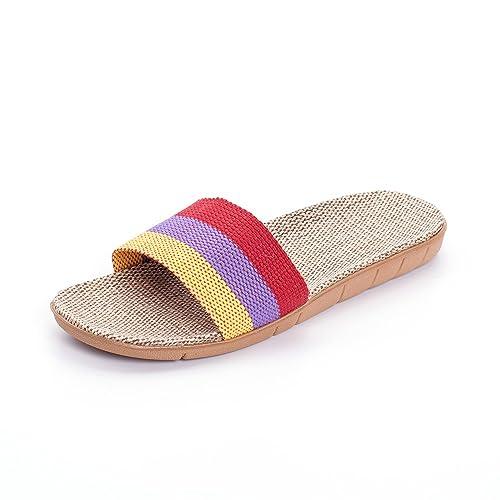 Matt Keely Mujer Hombres Verano Lino Playa Zapatillas Casa Interior Sandalias: Amazon.es: Zapatos y complementos