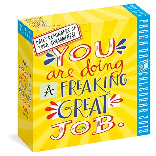 You Are Doing a Freaking Great Job Page-A-Day Calendar 2019 by Workman Publishing Company