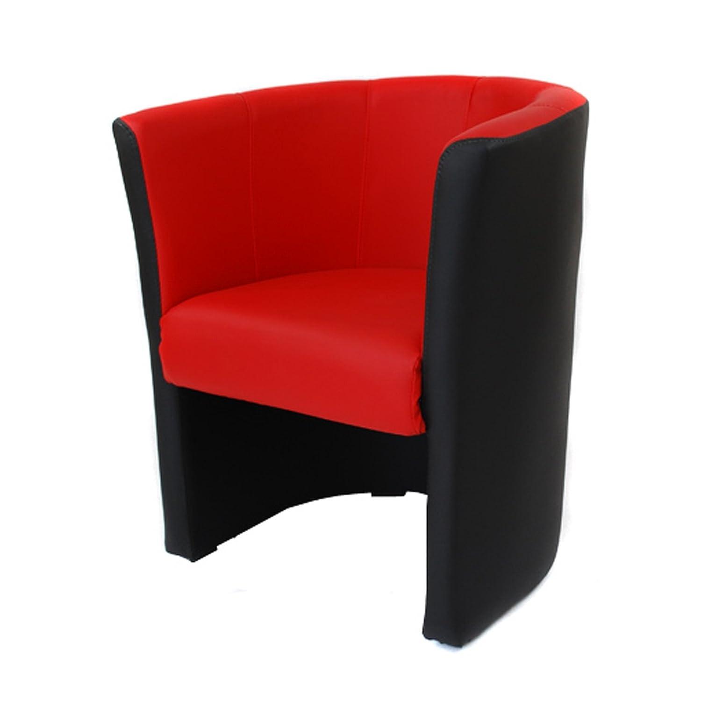 Fauteuils cabriolet simili cuir mix rouge-noir W042 08