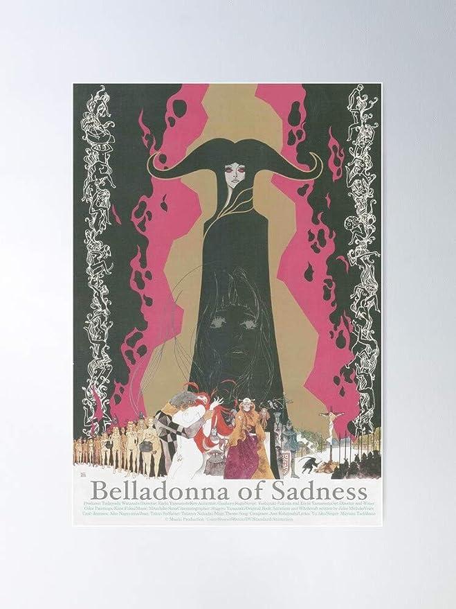 Amazon Com Issicarho Eiichi Yamamoto Anime Jules Michelet Belladonna Of Sadness Animerama Gift For Home Decor Wall Art Print Poster Posters Prints