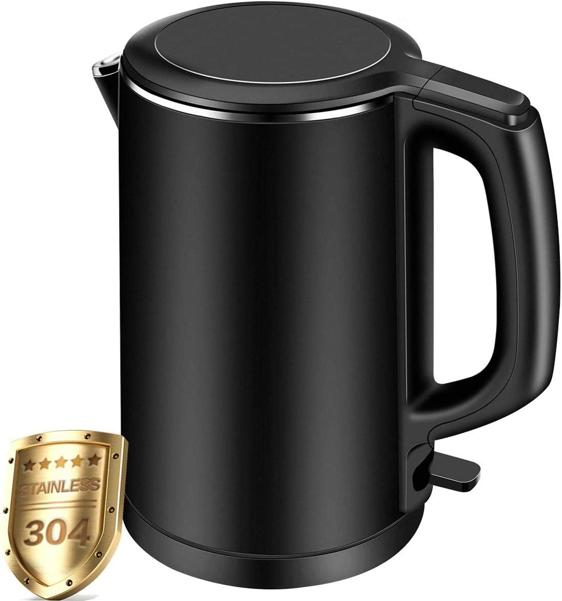 Electric Kettle, CUSIBOX 1.5L Double Wall 100 Stainless Steel Tea Kettle Cool Touch, 1500W Fast Boil Cordless Water Kettle with Auto Shut-Off Boil Dry Protection