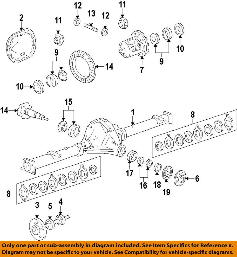 Rear Axle Assembly Diagram