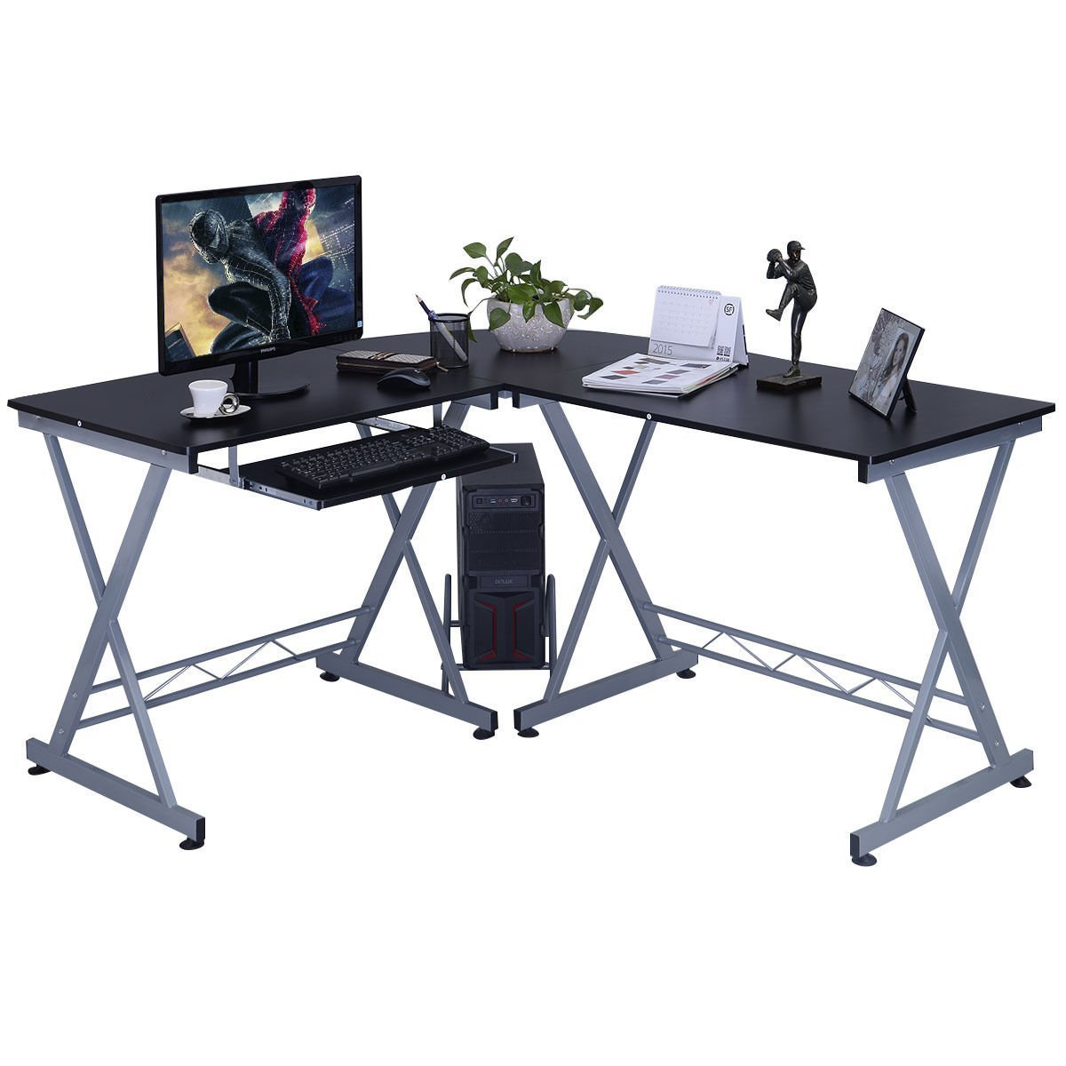 buy shape home office. Amazon.com: L-Shape Computer Desk Wood Table Laptop Corner Workstation Home Office Black: Kitchen \u0026 Dining Buy Shape
