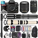 Holiday Saving Bundle for D810 DSLR Camera + 18-140mm VR Lens + 650-1300mm Telephoto Lens + Tamron 70-300mm Di LD Lens + 500mm Telephoto Lens + 6PC Graduated Color Filer Set - International Version