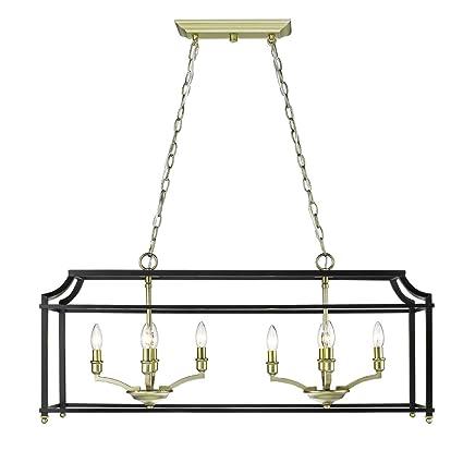 Amazon.com: dorado iluminación 8401-lp sb-blk Leighton ...