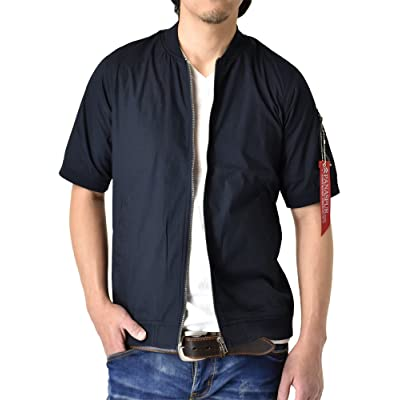 (アルージェ) ARUGE MA-1 半袖シャツ 半袖パーカー ミリタリージャケット / A3W