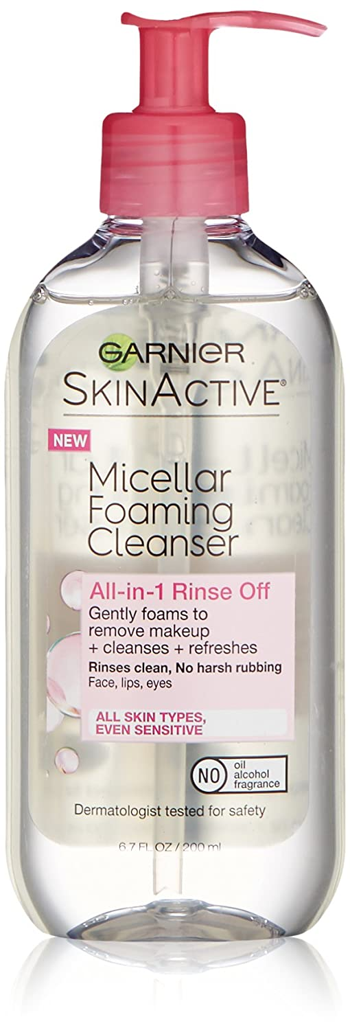 Garnier SkinActive Micellar Foaming Face Wash, For All Skin Types, 6.7 fl oz