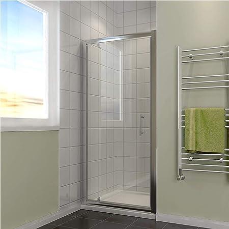 700mm Pivot Hinge Shower Door 6mm Safety Glass Reversible Enclosure Cubicle