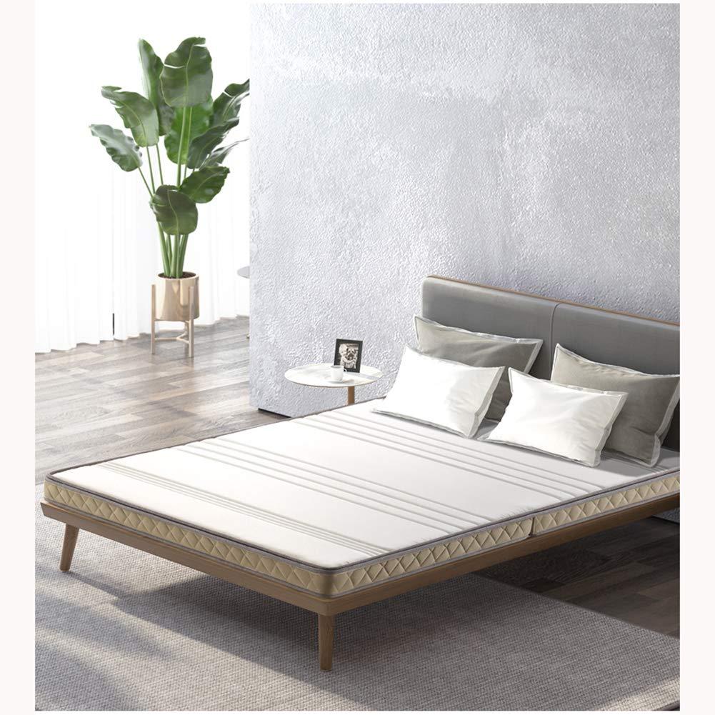 Love Home Tatami Kokosnuss-Handmatratze, faltbar, verdickt, festes Gefühl, Reißverschluss, leise, Matratzenauflage, Kokosnuss-Handfläche, weiß, 150x200cm(59x79inch)