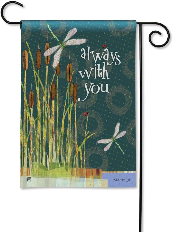 BreezeArt Studio M Always with You Decorative Memorial Bereavement Garden Flag – Premium Quality, 12.5 x 18 Inches