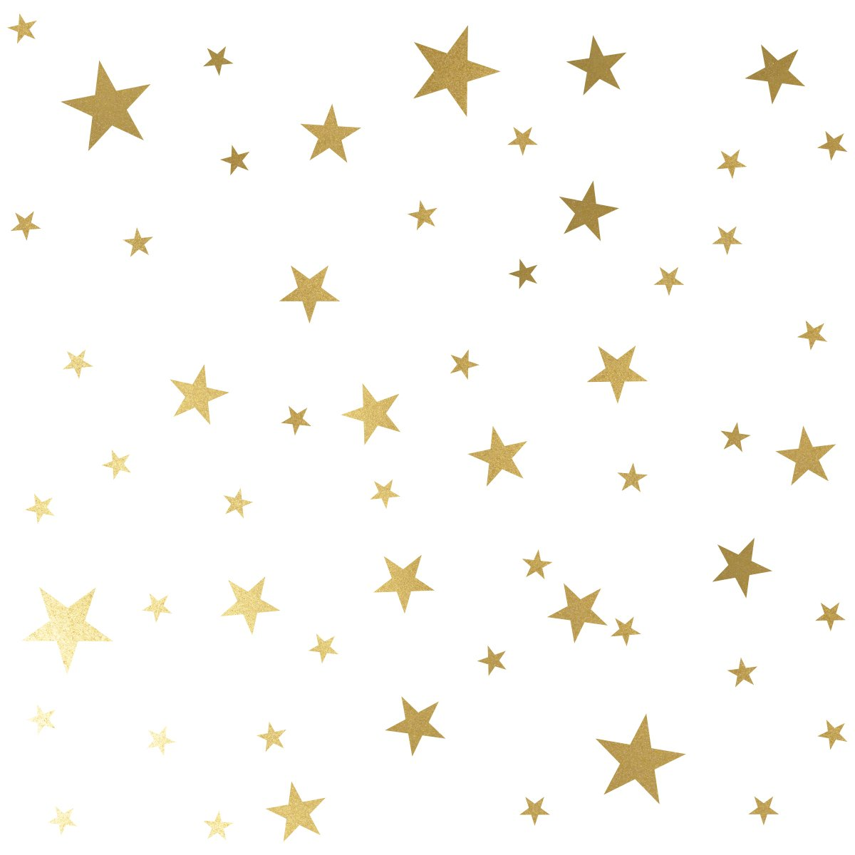 MozamyCreative Star Wall Decals (189 Count) Gold Star Decals Nursery Decals Removable Peel and Stick Wall Decals, Vintage Gold