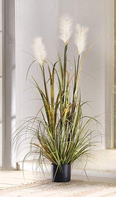 Shore Reeds Decorative Pot Plant Artificial Grass 120 Cm Amazon Co Uk Kitchen Home