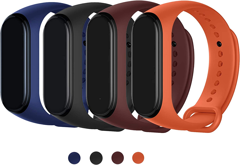 Maspen Armband Kompatible f/ür Xiaomi Mi Band 4 //Mi Band 3 Damen Herren Silikon Ersatz Fitness Armband und Uhrenarmband Sportarmband und Wristband Armb/änder f/ür Xiaomi Mi Band 4//3