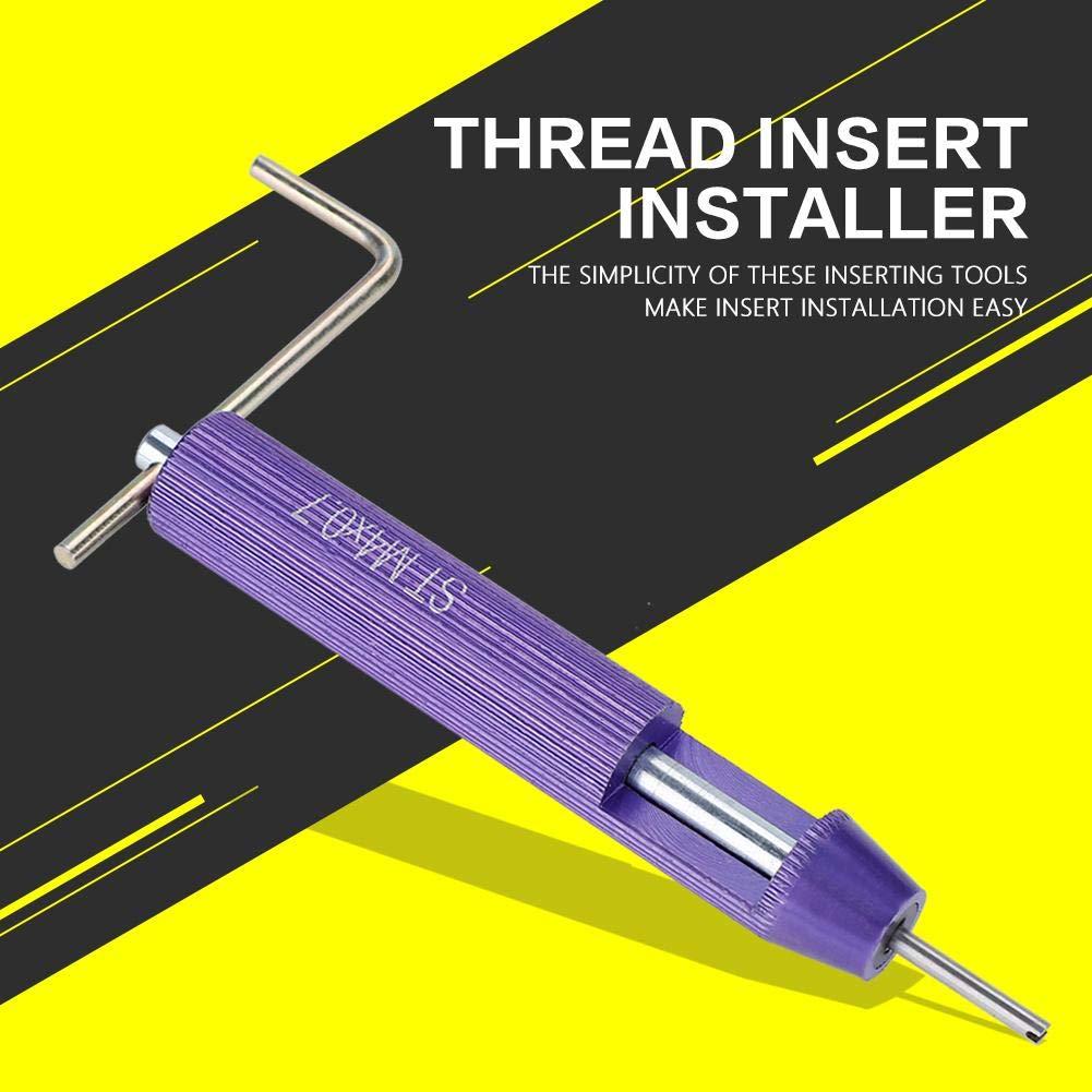 aleaci/ón de aluminio Herramienta de instalaci/ón de inserci/ón de hilo de alambre en espiral herramienta de instalaci/ón tornillo manual 11 tipos