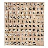 Wooden Alphabet Letters Scrabble Tiles Set / DIY Letter Crafts For Children Kids Student(100PCS)