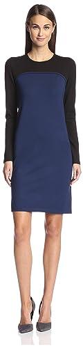 SOCIETY NEW YORK Women's Seamed Colorblock Dress