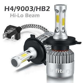H4 Ampoules Bright Cob Voiture Phare 6500k Super 72w Auto Lampe Led 8000lm vm0w8nOyN