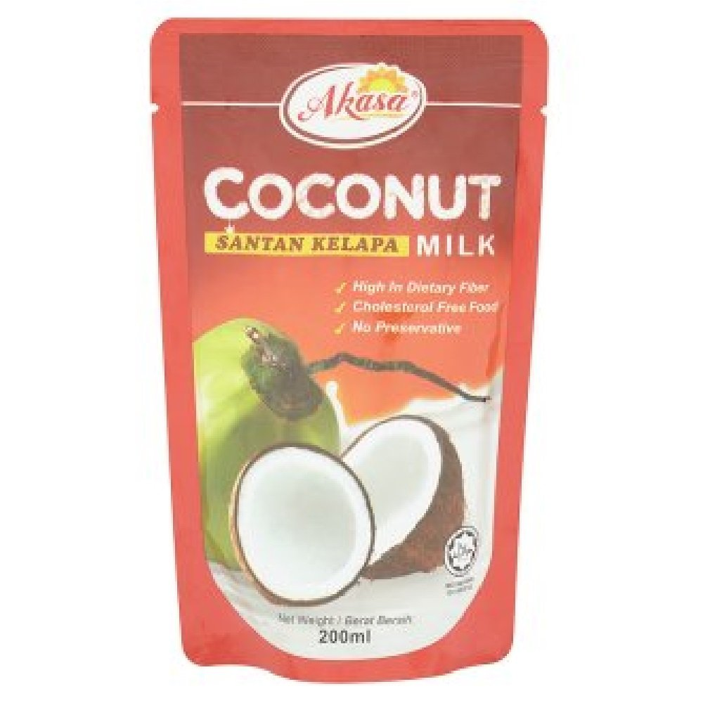 Akasa Coconut Milk 200ml (628MART) (6 Packs) by Akasa (Image #1)