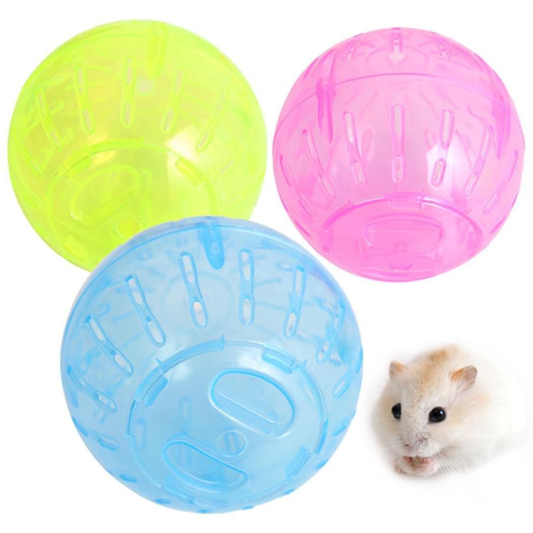 WILLTOO Pet Toys Mice Hamster Gerbil Rat Plastic Exercise Ball (Random)