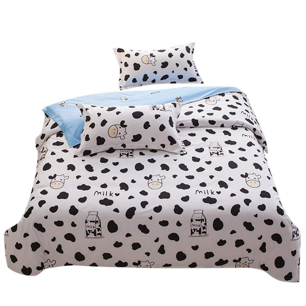 Birdfly Cute Panda Animal Pattern 2pcs Pillowcase + 1pcs Quilt Cover Set Cheap Clearance (as Show, C)